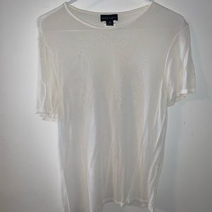 Vintage sheer Anne Klein white tee